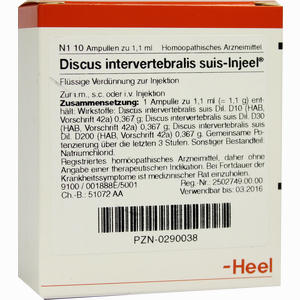 Abbildung von Discus Intervertebralis Suis- Injeel Ampullen  10 Stück