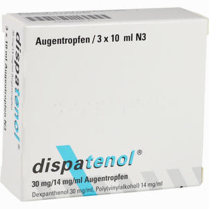 Abbildung von Dispatenol Augentropfen 3 x 10 ml