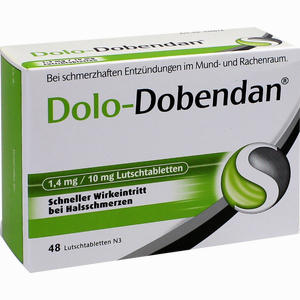 Abbildung von Dolo- Dobendan 1.4mg/10mg Lutschtabletten 48 Stück