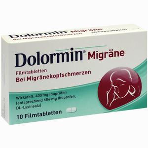 Abbildung von Dolormin Migräne Filmtabletten 10 Stück