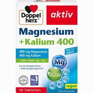 Abbildung von Doppelherz Aktiv Magnesium + Kalium Tabletten  30 Stück
