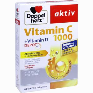 Abbildung von Doppelherz Aktiv Vitamin C 1000 + Vitamin D Depot Tabletten 60 Stück