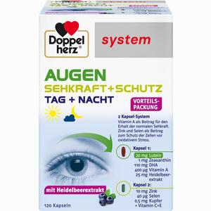 Abbildung von Doppelherz Augen Sehkraft + Schutz System Kapseln 120 Stück