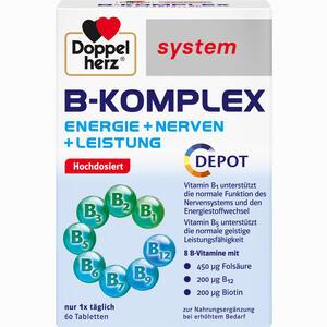 Abbildung von Doppelherz B- Komplex System Tabletten 60 Stück