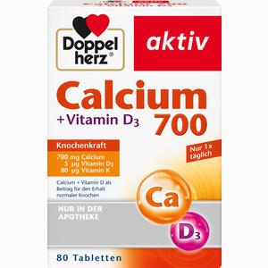 Abbildung von Doppelherz Calcium 700 + Vitamin D3 Tabletten 80 Stück