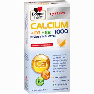 Abbildung von Doppelherz Calcium+d3+k2 System Brausetabletten 26 Stück