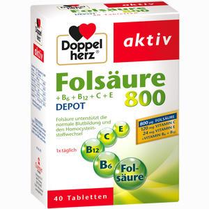 Abbildung von Doppelherz Folsäure 800+b- Vitamine Tabletten 40 Stück