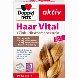 Abbildung von Doppelherz Haar Vital + Zink + Hirseextrakt Kapseln 30 Stück