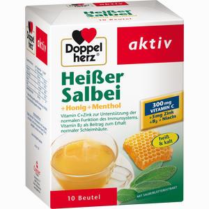 Abbildung von Doppelherz Heißer Salbei+honig+menthol Granulat 10 Stück