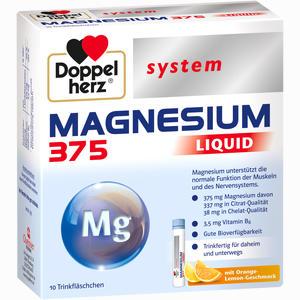 Abbildung von Doppelherz Magnesium 375 Liquid System Trinkampullen 10 Stück