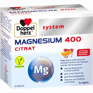 Abbildung von Doppelherz Magnesium 400 Citrat System Granulat 20 Stück