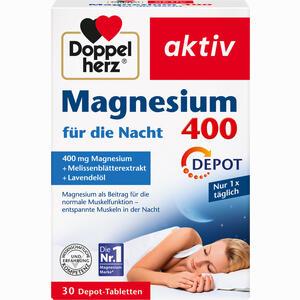 Abbildung von Doppelherz Magnesium 400 für die Nacht Tabletten 30 Stück