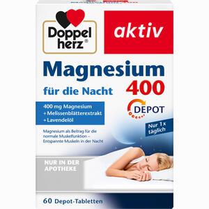 Abbildung von Doppelherz Magnesium 400 für die Nacht Tabletten 60 Stück