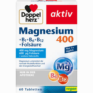 Abbildung von Doppelherz Magnesium 400mg Tabl. Tabletten 60 Stück