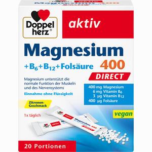 Abbildung von Doppelherz Magnesium + B Vitamine Direct Pellets 20 Stück