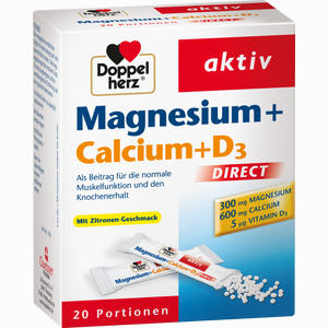 Abbildung von Doppelherz Magnesium + Calcium + D3 Direct Pellets 20 Stück