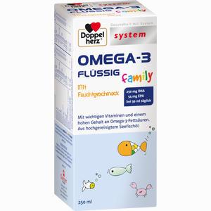 Abbildung von Doppelherz Omega- 3 Family Flüssig System Flüssigkeit 250 ml