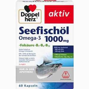 Abbildung von Doppelherz Seefischöl Omega- 3 1000mg + Folsäure Kapseln 60 Stück