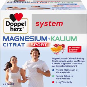 Abbildung von Doppelherz System Magnesium + Kalium Citrat Granulat 40 Stück