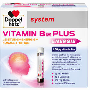 Abbildung von Doppelherz Vitamin B12 Plus System Trinkampullen 30 x 25 ml