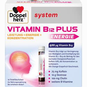 Abbildung von Doppelherz Vitamin B12 Plus System Trinkampullen 10 x 25 ml