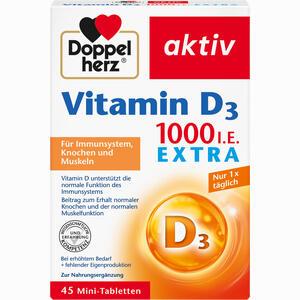 Abbildung von Doppelherz Vitamin D1000 I.e. Extra Tabletten 45 Stück
