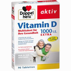 Abbildung von Doppelherz Vitamin D1000 I.e. Extra Tabletten 90 Stück