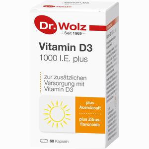 Abbildung von Dr. Wolz Vitamin D3 1000 I.e. Plus Kapseln  60 Stück