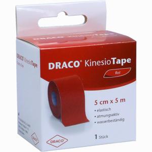 Abbildung von Draco Kinesiotape 5mx5cm Rot Verband 1 Stück