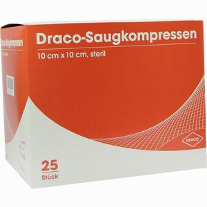 Abbildung von Draco- Saugkompresse Steril 10x10cm Kompressen 25 Stück
