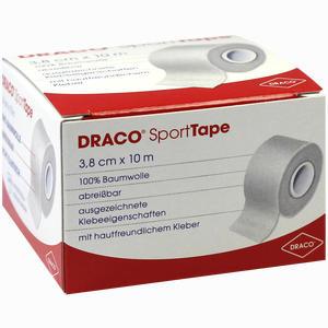 Abbildung von Draco- Sporttape 10m X 3,8cm Weiß Verband 1 Stück
