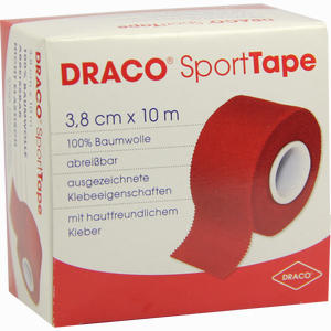 Abbildung von Draco Sporttape 10mx3.8cm Rot Verband 1 Stück