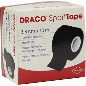Abbildung von Draco Sporttape 10mx3.8cm Schwarz Verband 1 Stück