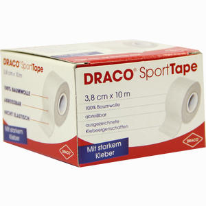 Abbildung von Draco Sporttape Tapeverband 10m X 3. 8cm Weiß 1 Stück