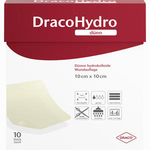 Abbildung von Dracohydro Dünn Hydrokolloide Wundauflage 10x10cm Verband 10 Stück
