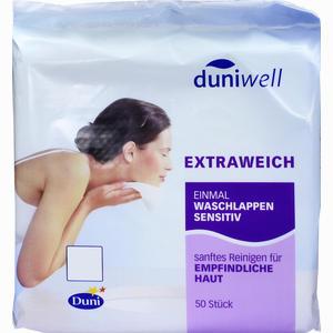 Abbildung von Duniwell Einmal Waschlappen Sensitiv 50 Stück