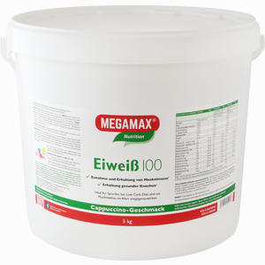 Abbildung von Eiweiss 100 Cappuccino Megamax Pulver 5000 g