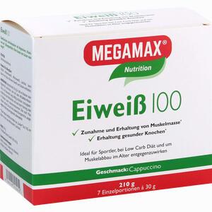 Abbildung von Eiweiss 100 Cappuccino Megamax Pulver 7 x 30 g
