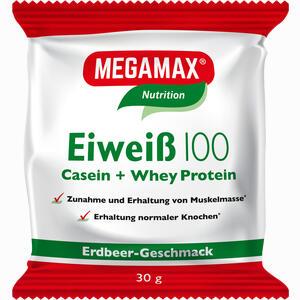 Abbildung von Eiweiss 100 Erdbeer Megamax Pulver 30 g
