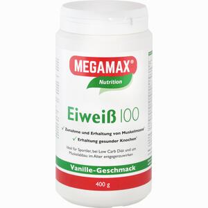 Abbildung von Eiweiss 100 Vanille Mega Pulver 400 g