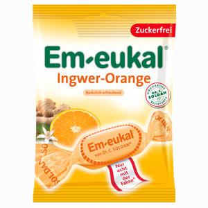 Abbildung von Em- Eukal Ingwer Orange zuckerfrei Bonbon 75 g