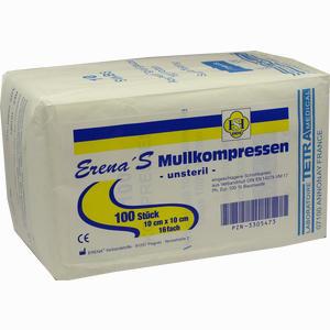 Abbildung von Erena Mullkompressen Unsteril 10 X 10cm 16- Fach  100 Stück