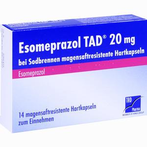 Abbildung von Esomeprazol Tad 20mg bei Sodbrennen Kapseln 14 Stück