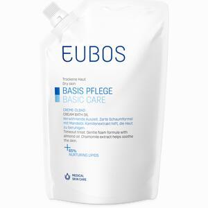 Abbildung von Eubos Basispflege Creme Ölbad im Nachfüllbeutel Bad 400 ml
