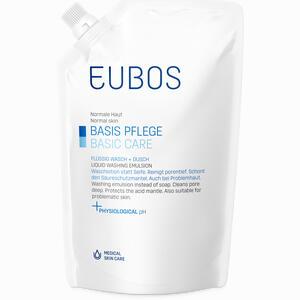 Abbildung von Eubos Flüssig Wasch + Dusch Blau im Nachfüllbeutel unparfümiert Fluid 400 ml
