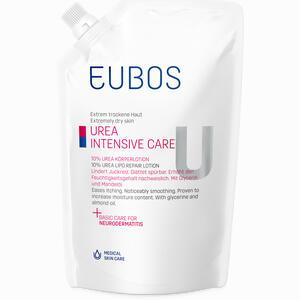 Abbildung von Eubos Trockene Haut Urea 10% Körperlotion im Nachfüllbeutel  400 ml