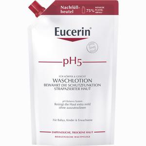 Abbildung von Eucerin Ph5 Waschlotion im Nachfüllbeutel für Empfindliche Haut Duschgel 750 ml