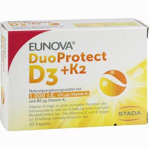 Abbildung von Eunova Duoprotect D3+k2 1.000 I.e./80µg Kapseln  30 Stück