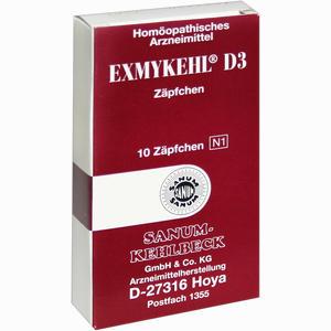 Abbildung von Exmykehl D3 Zäpfchen 10 Stück