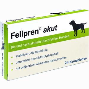 Abbildung von Felipren Akut Kautabletten bei Durchfall für Hunde 24 Stück